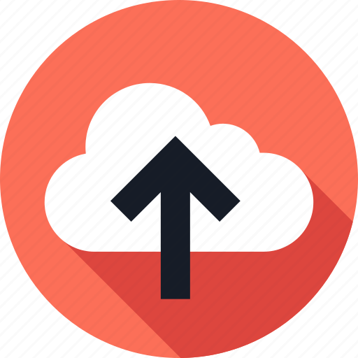 cloud, point, pointer, up, upload icon