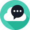 chat, cloud, conversation, sms, talk, weather icon