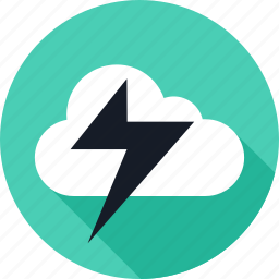 cloud, lightning, power, weather icon