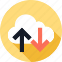 activity, cloud, down, up, weather icon