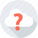 ask, cloud, mark, question, weather icon