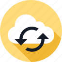 arrow, arrows, cloud, refresh, weather icon