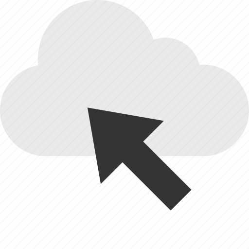 arrow, click, cloud, mouse, server, track, up icon