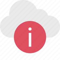 cloud, i, info, information, server, up icon