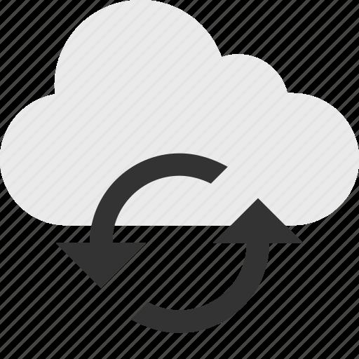 cloud, loop, server, up icon