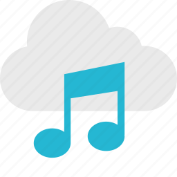 cloud, music, play, player, server, up icon