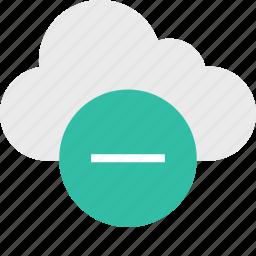cloud, line, negative, server, sign, up icon