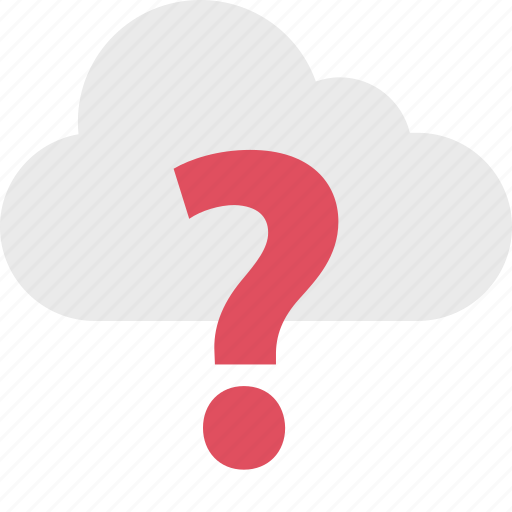 ask, cloud, mark, question, server, up icon