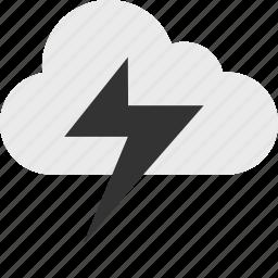 cloud, light, lightning, power, server, shock, up icon