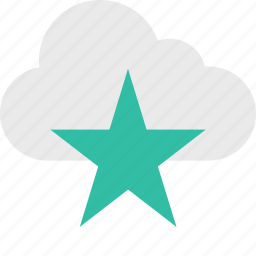 cloud, favorite, save, server, star, up icon