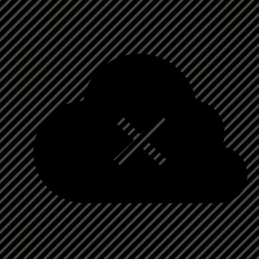 cancel, cloud, delete icon