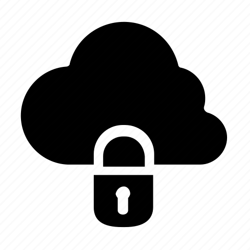 cloud, lock, privacy icon