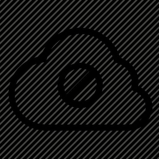block, cloud icon