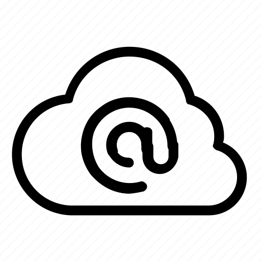 cloud, email icon