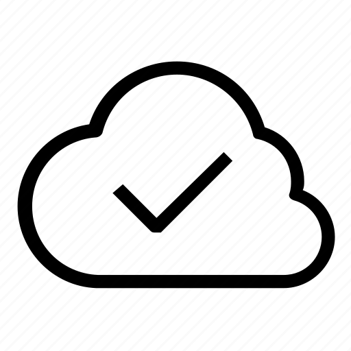 cloud, complete, confirm icon