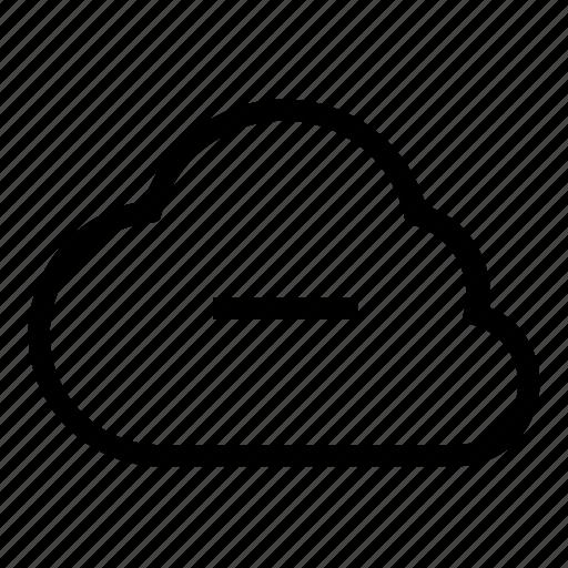 cloud, delete icon