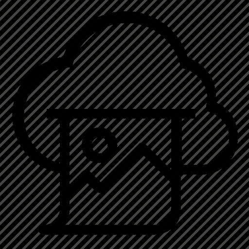 cloud, image icon