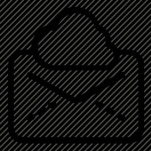 cloud, envelope, message icon