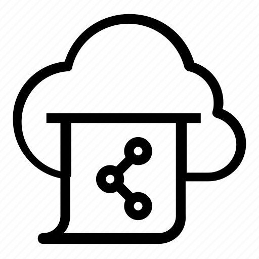 cloud, share icon