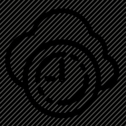 clock, cloud icon