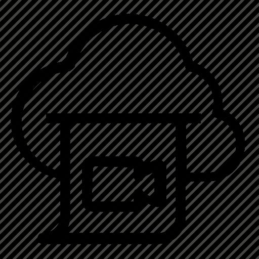 camera, cloud, video icon