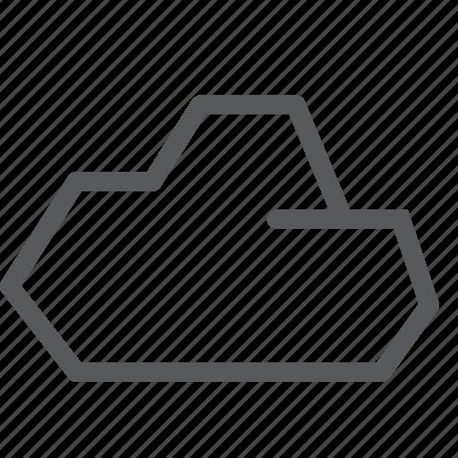 backup, cloud, database, icloud, plain, storage icon