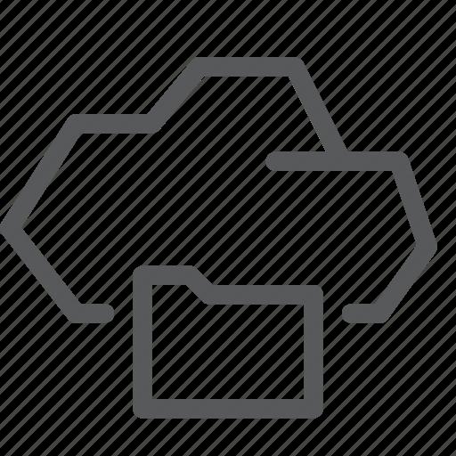 archive, backup, cloud, database, folder, icloud, storage icon