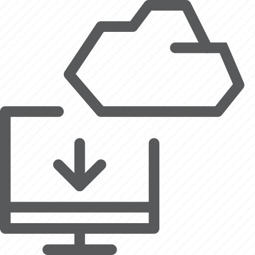 backup, cloud, database, download, icloud, imac, pc, storage icon