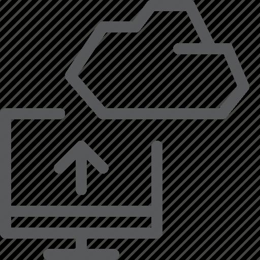 backup, cloud, database, icloud, imac, pc, storage, upload icon