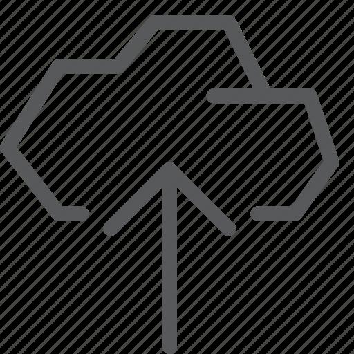 arrow, backup, cloud, database, icloud, storage, up, upload icon