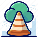 alert, cloud, danger, storage, warning icon