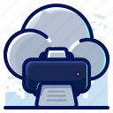 cloud, print, printing icon