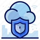 cloud, protection, security, shield