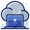 cloud, computer, laptop, storage