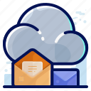 cloud, email, mail, message, storage icon