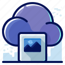 cloud, image, media, multimedia, picture icon