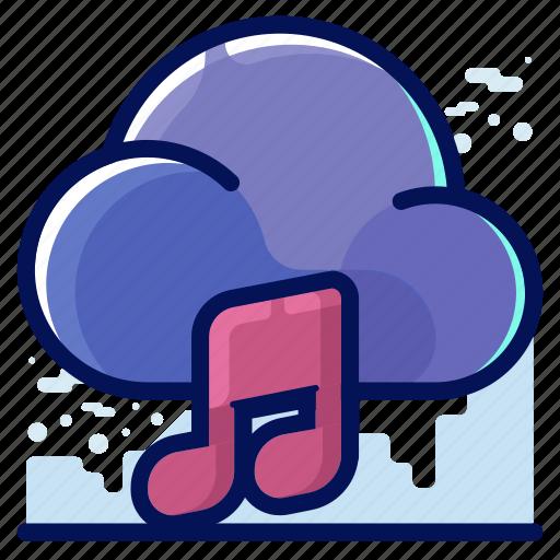 cloud, media, multimedia, music icon