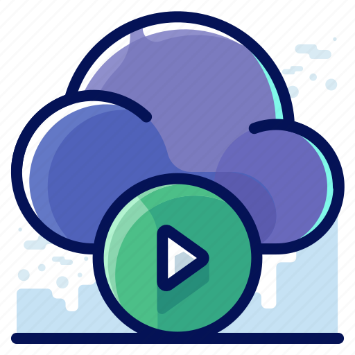 Cloud, media, movie, multimedia, video icon - Download on Iconfinder