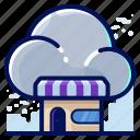 cloud, shop, storage, store icon