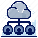 access, cloud, users icon