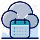 appointment, calendar, cloud, schedule icon
