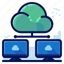 cloud, computer, share, storage, transfer icon
