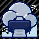 cloud, print, printing icon