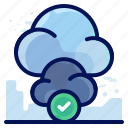 cloud, complete, confirm, transfer icon
