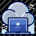 cloud, computer, laptop, storage icon