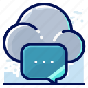 chat, cloud, message icon