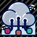 cloud, send, share, transfer icon
