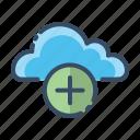 add, cloud, more, plus