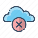 cloud, offline, close, remove icon