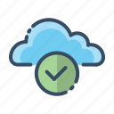 cloud, ok, online, secure icon